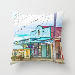 Welcoming village shop Throw Pillow