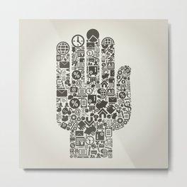 Hand business3 Metal Print