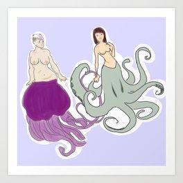 babes of the sea Art Print