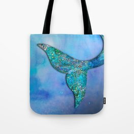 Sparkly Mermaid Tail Fin Tote Bag