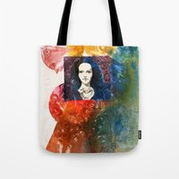 lucy Tote Bags featuring Lucy by Ecsentrik