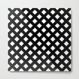 Black and White Lattice Metal Print