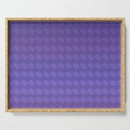 Purple greek key Serving Tray