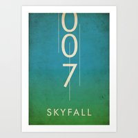 skyfall Art Prints featuring skyfall by alex lodermeier