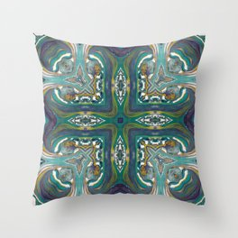 Celtic Cross - Abstract Art by Fluid Nature Throw Pillow