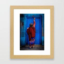 Tika Doorway Framed Art Print