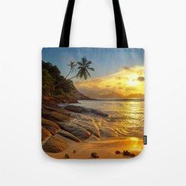 rocks and palms Tote Bag