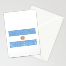 Argentinian Flag Vintage Argentina Country Gift Stationery Cards