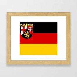 Flag of Rheinland-Pfalz (Rhineland-Palatinate) Framed Art Print