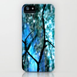 Turquoise Blue Nature Abstract iPhone Case