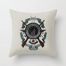 Sgt Bucky Barnes (blue) Throw Pillow