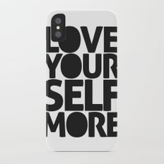 LOVE YOURSELF MORE iPhone X Slim Case