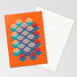 Ogee orgy orange Stationery Cards