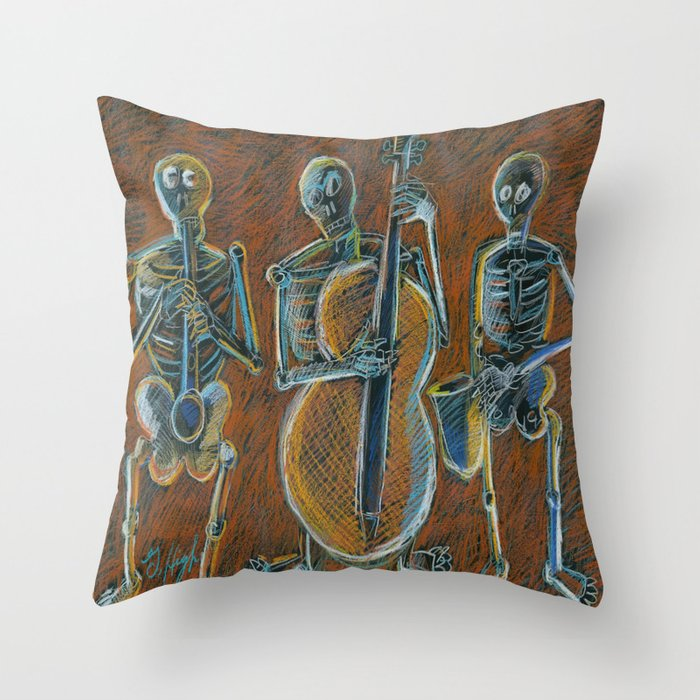 Super Jazz Time With The Bonz Band Throw Pillow By Glhighartyahoocom Caraccident5 Cool Chair Designs And Ideas Caraccident5Info