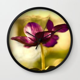 Glowing Purple Flower #decor #buyart #society6 Wall Clock