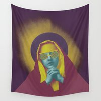 madonna Wall Tapestries featuring TRANSCENDENCE by Julia Lillard Art