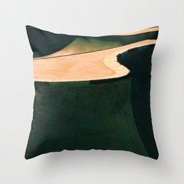 Concrete & Curves Throw Pillow