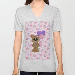 Mommy Bear Loves his Mommy Unisex V-Neck