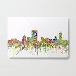 Boston, Massachusetts Skyline SG - Faded Glory Metal Print