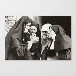 Nuns Smoking Canvas Print