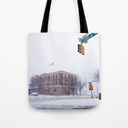 Snow NYC West Side Highway Tote Bag
