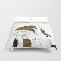 introvert Duvet Covers featuring Introvert 8 by Heidi Banford
