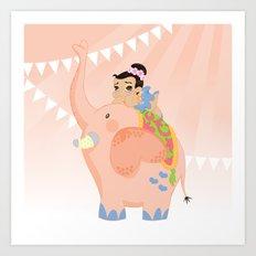 Pink circus Art Print