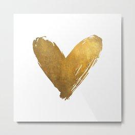Heart of Gold Metal Print