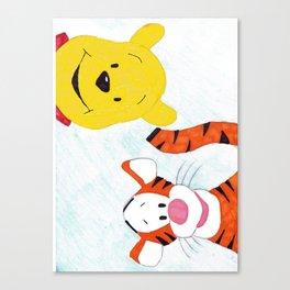 Pooh and Tigger Canvas Print