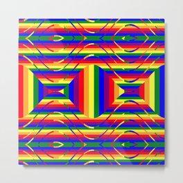 Pride Rainbow Stylized  Metal Print