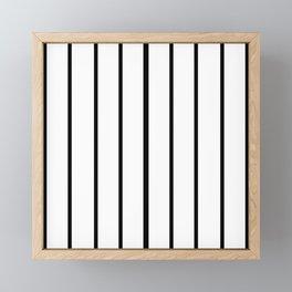 Simple Black and White Lines Decor Framed Mini Art Print