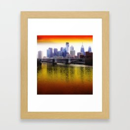 Philly Reflects Framed Art Print