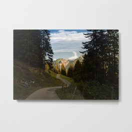 through the woods and over the mountains Metal Print