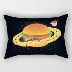 Galactic Cheeseburger & Fries Rectangular Pillow