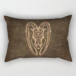 Vintage Rustic Aries Zodiac Sign Rectangular Pillow