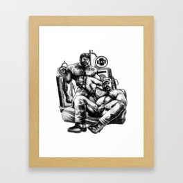 MuscleBearGas Framed Art Print