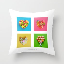 For the Love of Candy Throw Pillow