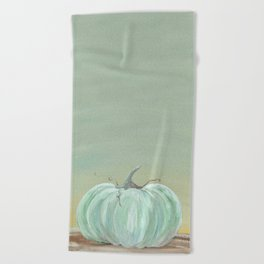 Ready for Fall Cinderella pumpkin Beach Towel