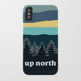 up north, teal & yellow iPhone Case