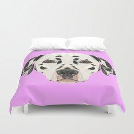 Dalmatian // Lilac Duvet Cover
