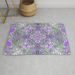 Lilac and Pink Pattern Rug