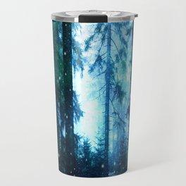 Fireflies Night Forest Travel Mug