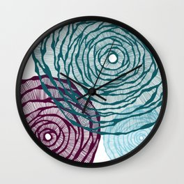Agave Swirls Wall Clock