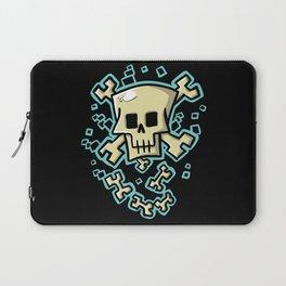 Toxic skull and crossbones blue Laptop Sleeve
