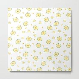 pattern with apples Metal Print