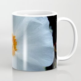 white flower 5 Coffee Mug