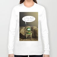 pewdiepie Long Sleeve T-shirts featuring Mr. Chair, NO! by MuddyTiger