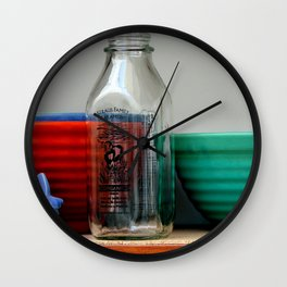Shelved Yet Easily Accessible Wall Clock