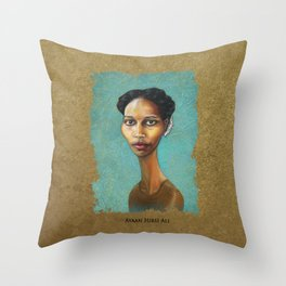 Portrait of Ayaan Hirsi Ali Throw Pillow