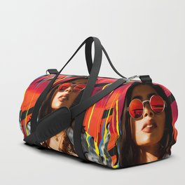 "Illustration Collage ""Red, Blue, Yellow - You"" Duffle Bag"